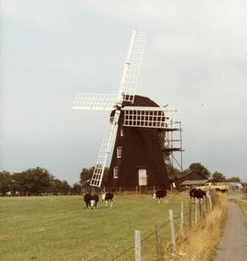 Preserved smock mill, Lacey Green, Buckinghamshire