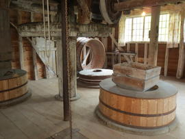 Interior of Topcliffe Mill in Meldreth, Cambridgeshire