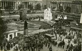 """Ruined Village Trafalgar Sq 1919"""