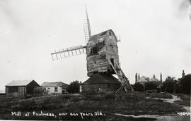 """Windmill at Foulness, Essex - copy negative"""