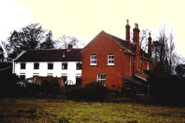 Henley Mill, Wookey, Somerset,  Mill and cottage from the SE