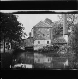 Aby Mill, Claythorpe, by pond/river, with chimney