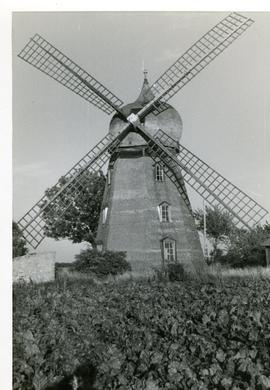 Preserved smock mill at Bjornhovda, Sweden, summer 1974