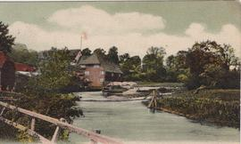 Hampshire, Droxford Mill, postcard