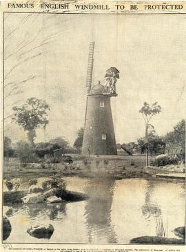 """Famous English Windmill To Be Protected"""