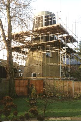 French's Mill, Chesterton, with scaffolding for cap restoration