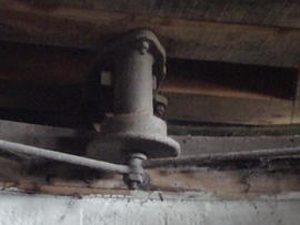 Curb and truck wheel/roller unit, Cadge's Mill, Reedham