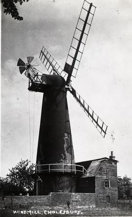 """Windmill, Cholesbury - copy negative"""