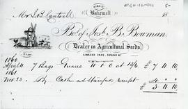 Account for years 1860 and 1861