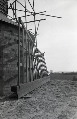 """Windmill at Pitstone, Bucks - new sail before fitting"""