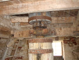 Coupling in upright shaft, Hickling Mill, Hickling