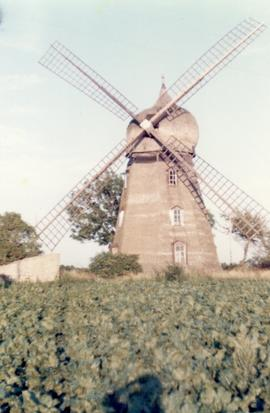 Smock mill at Bjornhovda on island of Oland, Sweden, summer 1974