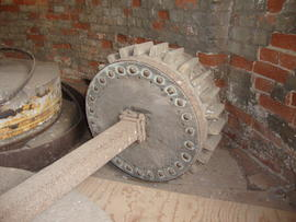 Displaced stone nut and quant, tower mill, Ullesthorpe