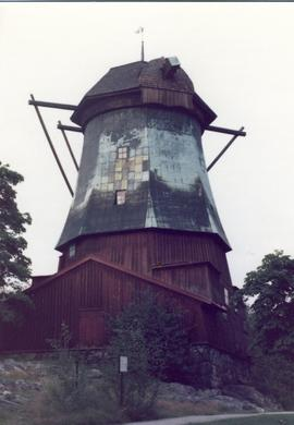 Smock mill (oil mill) at Stockholm Harbour, summer 1974