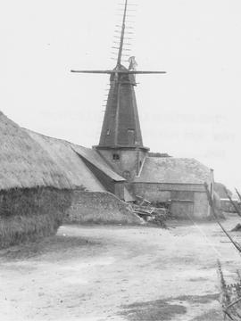 West Blatchington Smock Mill, West Blatchington, on barn roof, four stocks, fantail