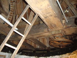 Cap frame, curb and truck wheel, Great Mill, Haddenham
