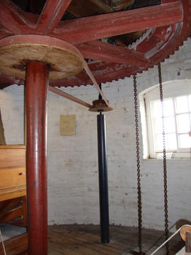 Great spur wheel, upright shaft and governor drive, Ellis Mill, Lincoln