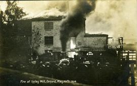"""Fire at Iffley Mill, Oxford, May 20th 1908"""