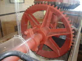 Scoopwheel shaft and pit wheel, High Mill, Berney Arms