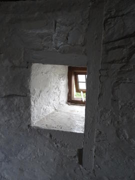 Window on dust floor, Sark Mill, Sark