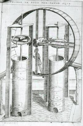 """Zonca 1607, treadwheel pump, bucket type"""