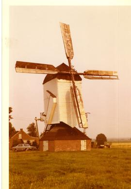 Preserved post mill at unknown location in northern Germany, summer 1973