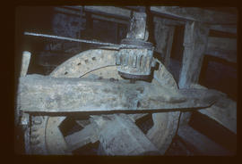 Venton Mill, Dartington, Devon, Stone nut and face gear on layshaft