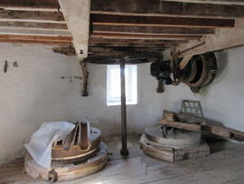 View of water stone floor, Combined Mill, Little Cressingham