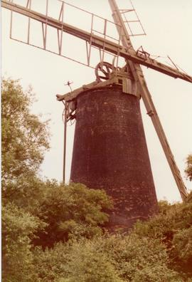 Derelict tower windpump (Polkey's Mill), Reedham, Norfolk