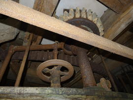 Stone nut with provision for taking out of gear by hand, tower mill, Old Buckenham