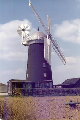 Exterior view, tower mill, Pakenham, Suffolk