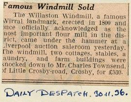 """Famous windmill sold"""