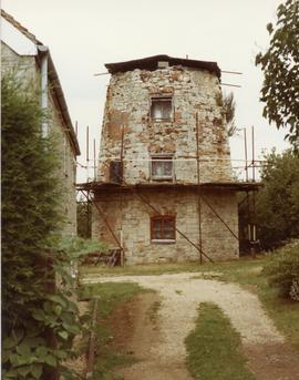 Tower mill under repair, Wheatley, Oxon