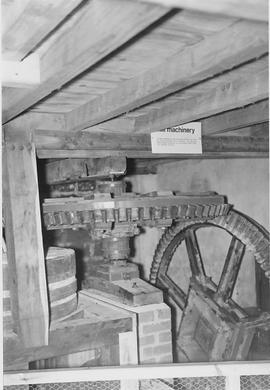Woods Mill, Henfield, internal, pit wheel, wallower and stones