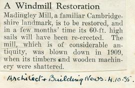 """A windmill restoration"""