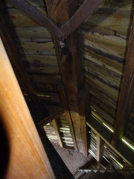 Interior view, smock mill, Crowfield