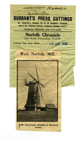 """A West Norfolk Mill"""