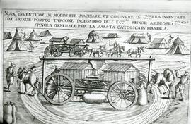 """Zonca 1607, mobile horse driven corn mill"""