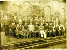 Engineering staff at The Earl of Dudley's Round Oak Works Ltd Ironworks, Brierley Hill, Staffords...