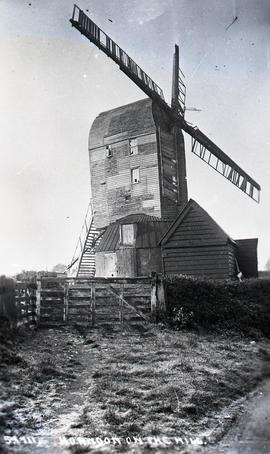 """Windmill at Horndon-on-the-Hill, Essex - copy negative"""