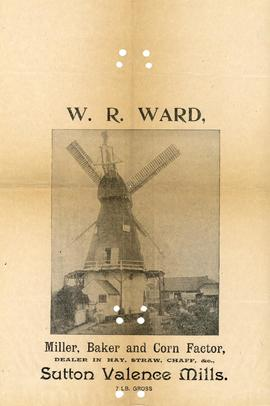 Advert for W R Ward
