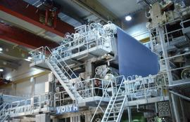 """Austria Lykam Mill upper wire on paper machine"""
