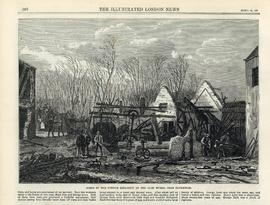 """Scene of the powder explosion at the Oare Works, near Faversham"""