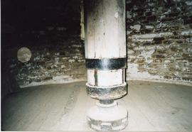 Coupling in upright shaft, tower mill, Wymondham