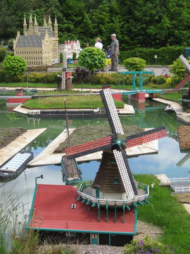 Miniature windmills, Legoland, Windsor