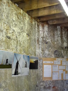 Internal wall of base, New Mill, Rottingdean