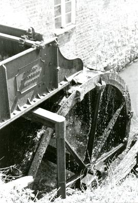 The Iron Overshot Wheel at Chegworth Mill