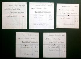 Invoices from Stanley Bullock, Miller of Aylsham to W Foster