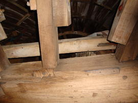Part of cap frame, Cattell's smock mill, Willingham