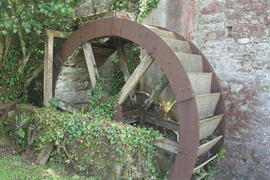 Orcheton Mill, Modbury, waterwheel
